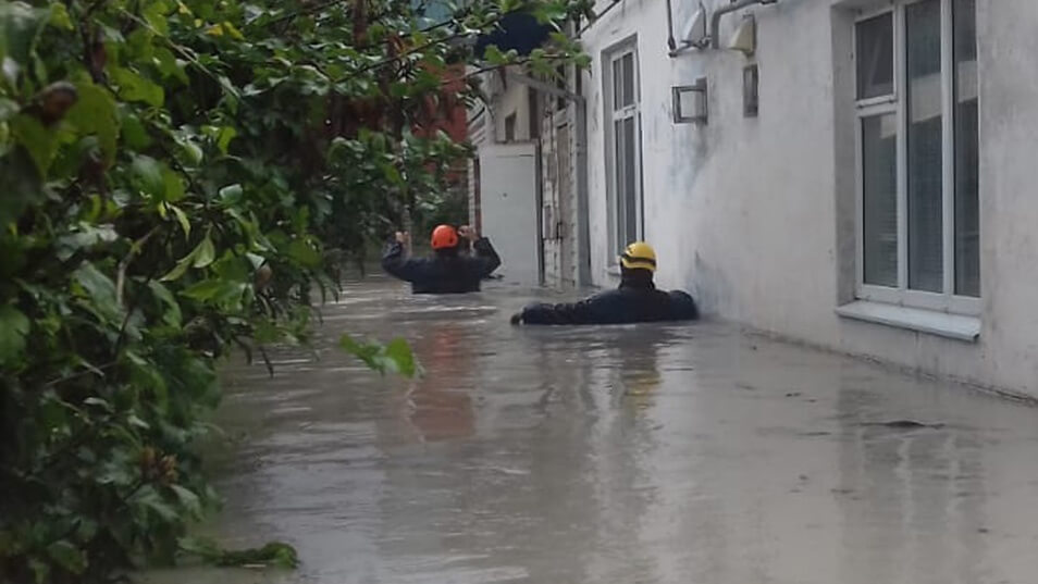 Tuapse flooded