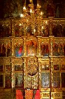Center view of the Iconostasis at the Iconostasis; Church on the Blood, St. Petersburg, Russia