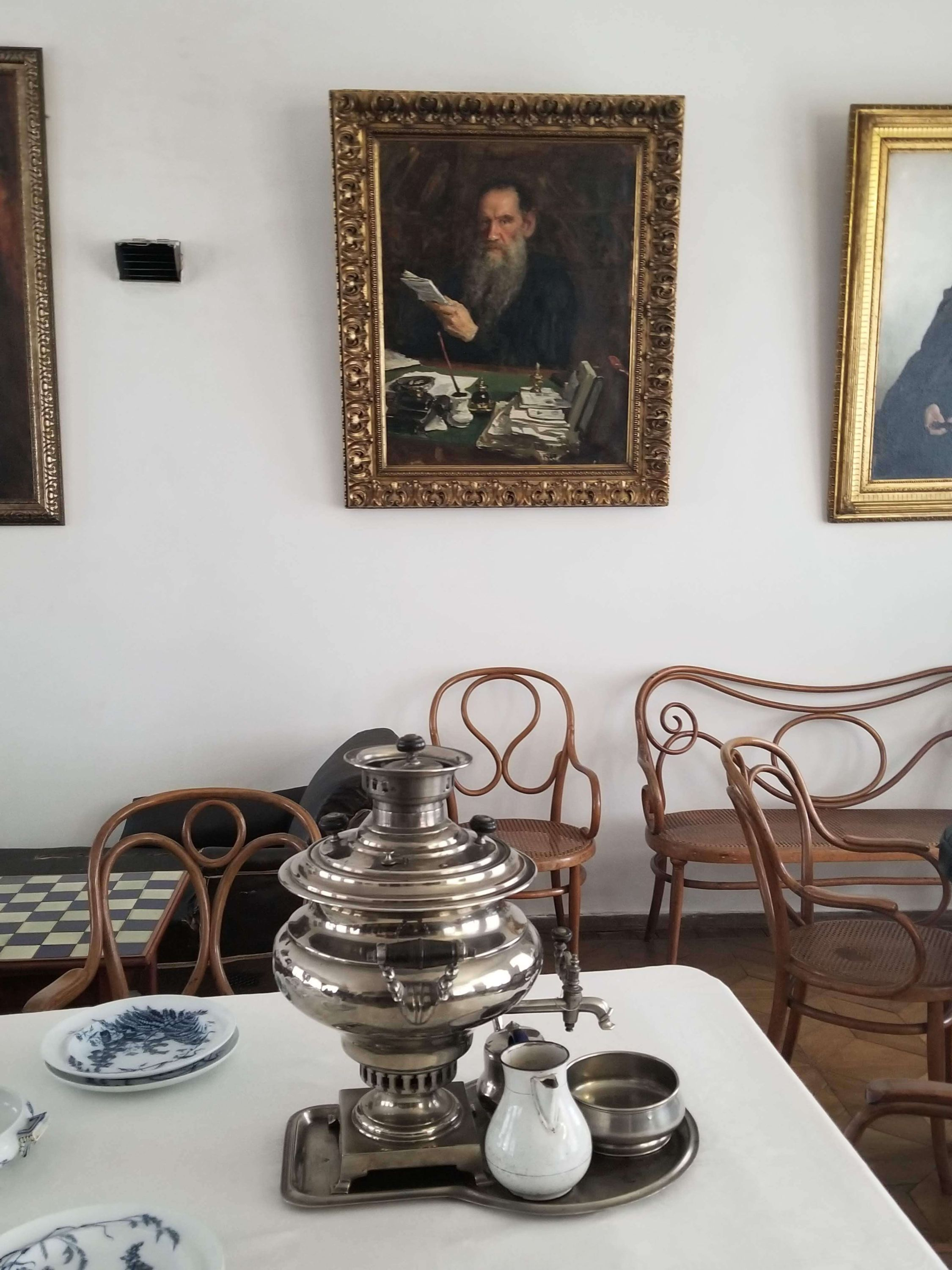 Tolstoy's house with samovar