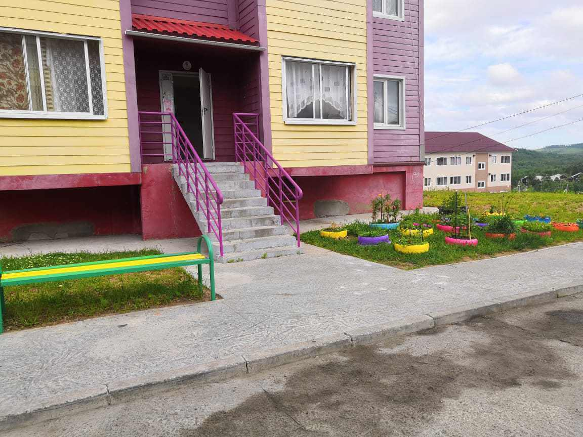 Colorful houses in the Far East