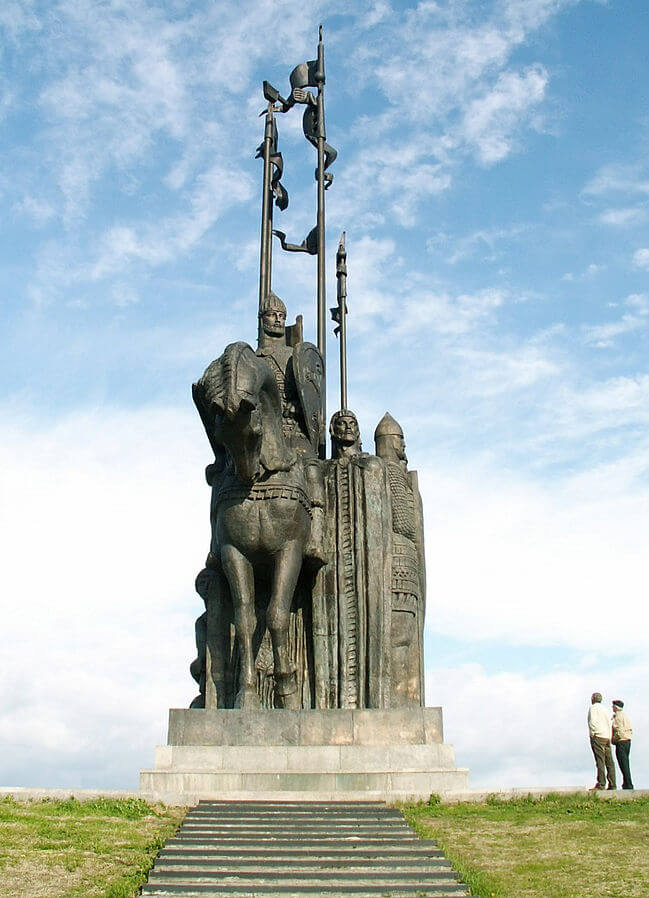 Monument to Nevsky near Pskov