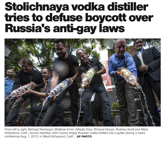 Vodka, Snowden and Boycotts