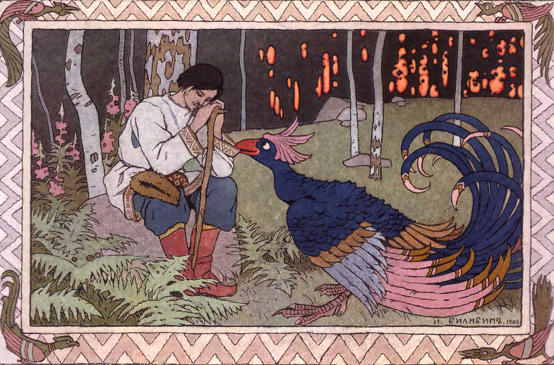 Prince Ivan Reads Warning Bilibin Fine Art Folk Print